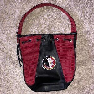Alan Stuart Fl seminoles leather mesh bag purse